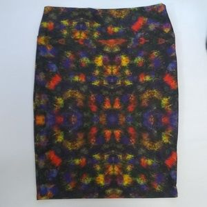 LulaRoe Abstract Cassie Pencil Skirt  L EUC